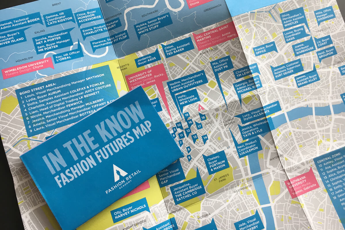 Print collateral, fold-out map, design by Broadbase